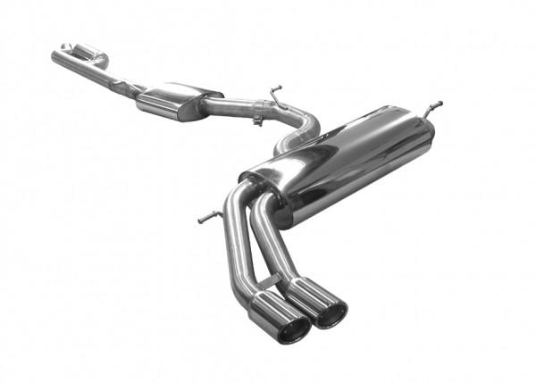BN-Pipes Edelstahlsportauspuffanlage für Audi A3 8V Quattro