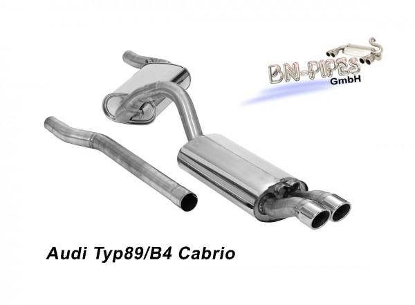 BN Pipes Sportauspuff für Audi 80 Cabrio - Typ 89