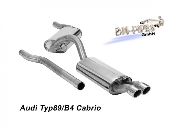 BN Pipes Sportauspuff für Audi 80 / 90 / Coupé - Typ 89